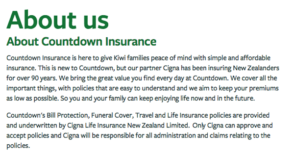 Countdown Insurance - Cigna Underwriter