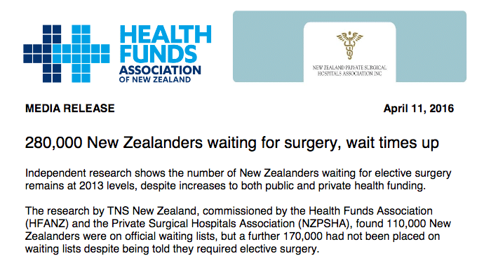 Elective Surgery Waiting List New Zealand LifeCovered