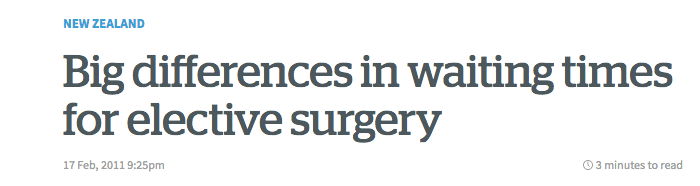 Big differences in waiting times for elective surgery