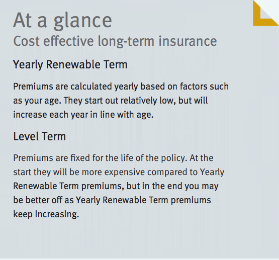 Stepped vs Level Premiums Comparison from Fidelity Life