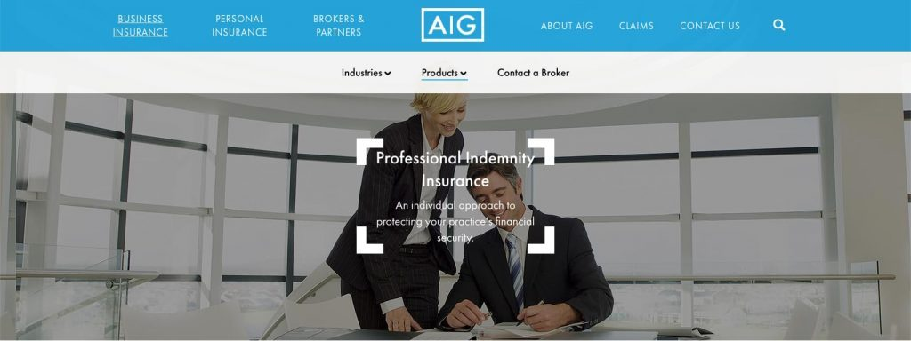AIG Professional Indemnity Insurance