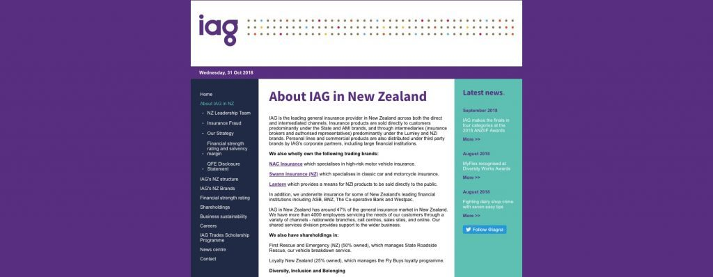 IAG Professional Indemnity Insurance