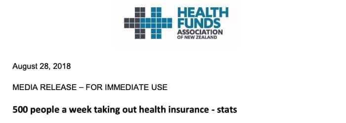 500 people a week taking out health insurance