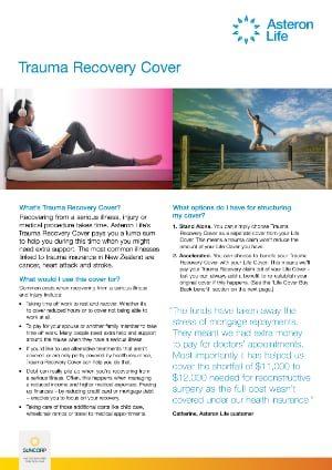 Asteron Life Trauma Recovery Brochure