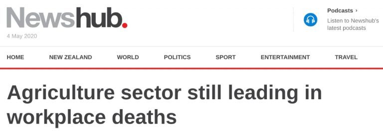 agriculture sector still leading in workplace deaths